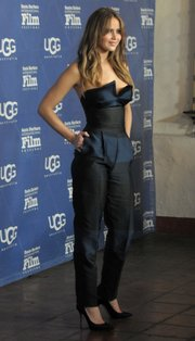 Jennifer Lawrence on the red carpet of the 2013 SBIFF Outstanding Performer of the Year (Feb. 2, 2013)