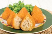 <i>Coxinhas</i> are deep-fried chicken croquettes and will be on the menu at Brasil Arts Café.
