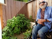 Fugate stays out of trouble now that he's living in a studio apartment at the Housing Authority's El Carrillo complex. His cupboards are full of canned food and ready-made pasta sauces, and he tends a vegetable garden on his small patio.