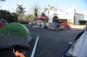 Chick-fil-A grand opening campout