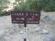Manzana Camp sign