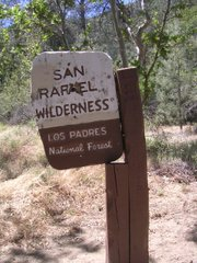 San Rafael Wilderness sign at Nira Camp