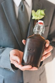 Make Smith's Steve Soria crafts both traditional and alternative groomsmen gifts out of leather. See makesmith.com.