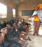 Maasai in school.