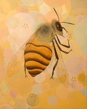 "Santa Barbara artist Maria Rendon contributed this painting, which is called simply ""Bee."""