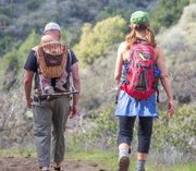 Couple just finishing hike up to Nineteen Oaks with baby. They had no idea hunting was legal there.