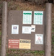 Kiosk at Upper Oso has no information about hunting at the start of the trail to Nineteen Oaks.