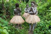 Painted Mbuti Girls