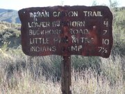 Indian Canyon trail sign