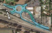 101 COMMOTION:  Caltrans says fitting the Common Sense 101 plans into working designs makes the group's ideas unfeasible—the roundabout would have to be moved and ramps would have to be built through buildings at the Vons shopping center.