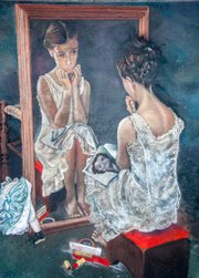 Girl at Mirror, Wayne and Cheryl Renshaw, 2010.