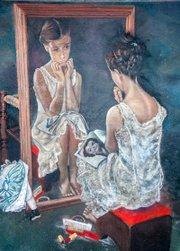 Girl at Mirror, Wayne and Cheryl Renshaw, 2010.