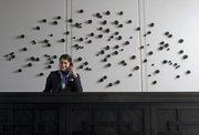 """120 Prayers"" by Yoshitomo Saito is made of 120 bronzed pine cones."