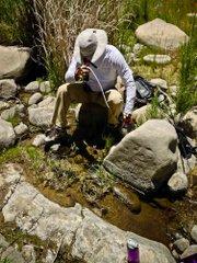 Eric pumping water