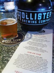 <b>TRAIL BREWER:</b> For every glass of Hollister's Condor Trail Ale you down, a buck goes to the proposed trail.