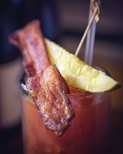 Bacon-topped Bloody Marys