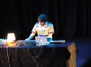 <b>THE MAN THEY CALLED DNTEL:</b>  Tamborello performs in 2006 under his solo-project pseudonym, Dntel.