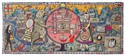 "<b>TAPESTRY MIND MAP:</b>  Grayson Perry's monumental ""Map of Truths and Beliefs"" is just one of the craft-based artworks in the SBMA's new exhibition honoring the artisanal impulse in contemporary art."