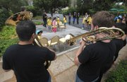 Musical chairs with a live horn section