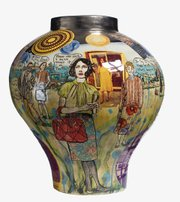 "<b>ART TALK: </b> Grayson Perry's ""You Are Here,"" 2011, a glazed ceramic and part of <i>Labour and Wait</i>, is from the collection of Fotene Demoulas and Tom Cote."