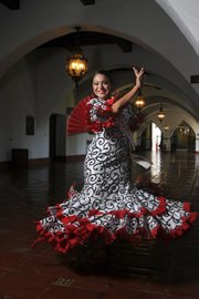 <b>HONOR ROLE:</b>  Spirit Corrie Jimenez shows her dancing flair.