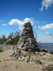 Stupa on the mountain top.