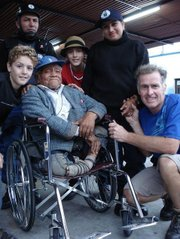 The Verhage family presents Angel with his new wheelchair.