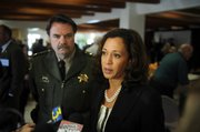 California Attorney General, Kamala D. Harris visits Earl Warren Showgrounds to recognize law enforcement individuals for outstanding performance.