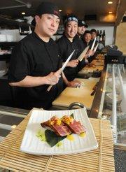 Arigato Sushi's inventive cuisine includes this mango ahi nigiri.