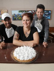 Sojourner's general manager Donna Mudge (pictured right), baker Ashleigh Carracino (center), and cook Juan Bautista (left).