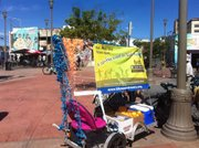 The S.B. Open Streets team at CicLAvia having fun in Los Angeles.