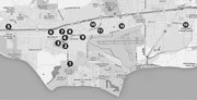 Map guide to Goleta development
