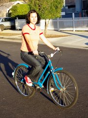 A relatively new bike convert, Carmen finds rolling a timeless pastime.
