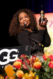 Oprah graciously accepting the Montecito Award in front of a hometown crowd.