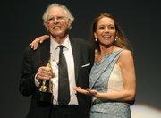 Bruce Dern receives the SBIFF 2014 Modern Master Award at the Arlington Theatre presented by Diane Lane (Feb. 8, 2014)