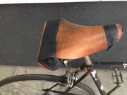 A DIY saddle at Bici Centro