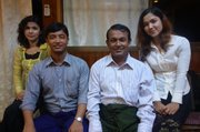 Kyaw Min (second from right), former member of the Myanmar Parliament, spent seven years in prison,  along with his wife and three children, for speaking out for Rohingya.