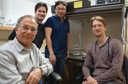 The research team: Professor of Chemical Engineering Jacob Israelachvili (left), researcher Yair Kaufman, the study's lead author Dong Woog Lee, and researcher Kai Kristiansen.