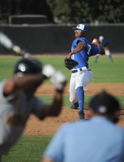 First-year pitcher Dillon Tate, the Gaucho closer, brings heat from the mound.