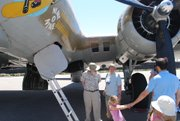Joe and Margaret Connell were among the visitors to the B-17 <em>Nine-O-Nine</em> at Wings of Freedom.