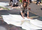 Ann Hefferman working on 'Datura'.