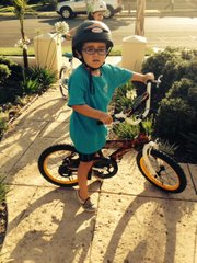 Paolo takes his bicycle riding seriously.