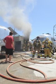 The fire was contained to a storage unit