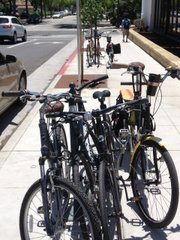 Bike poles at the Public Market are full!