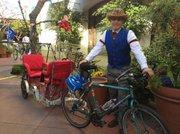Travel in style on Matt Dobberteen's homemade bike trailer.