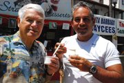 Nice cold ice cream at McConnell's De la Guerra booth.