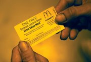 Releasees also are offered McDonald's meal vouchers.