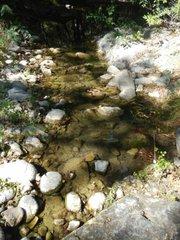 Water deep along Manzana
