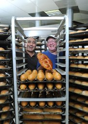 Ethnic Breads owner Peter Zadeh (left) and founder Sheldon Kaganoff