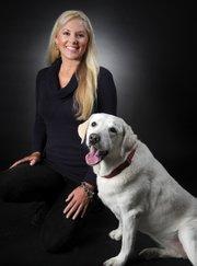Karen Stevens and Dog Sandy
